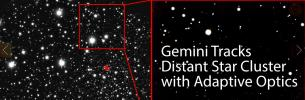 Gemini Tracks Distant Star Cluster with Adaptive Optics