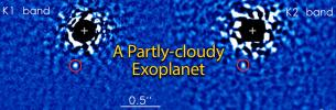 A Partly-cloudy Exoplanet