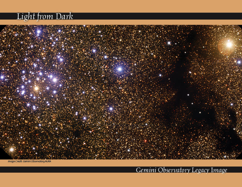 Starcluster NGC 6520 and Barnard 86