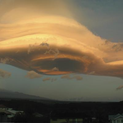Lenticular Cloud Over Mauna Kea