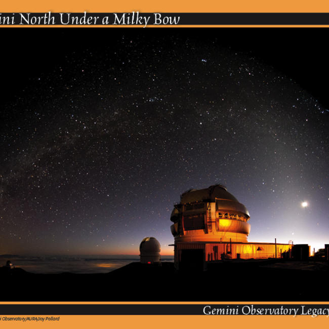 Gemini North telescope exterior under the Milkyway